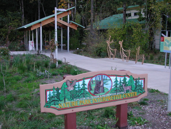 Tualatin Hills Nature Park Center sign 2