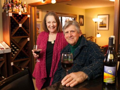 Jim and Holly Witt of A Blooming Hill Vineyard in Cornelius, Oregon