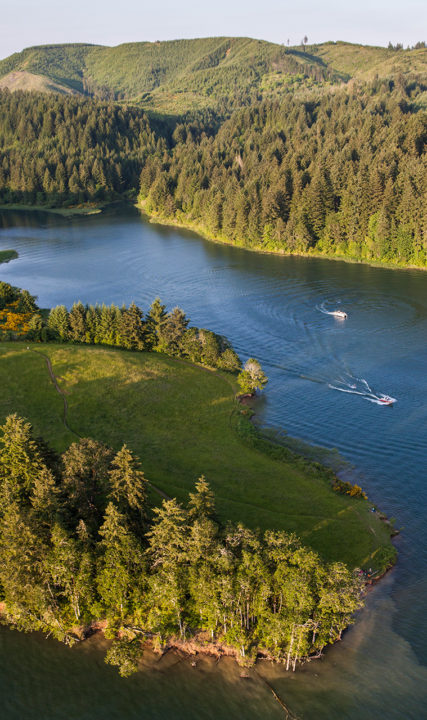 Aerial Shot Hagg Lake