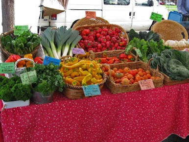Beaverton Farmers Market in the Tualatin Valley in Oregon