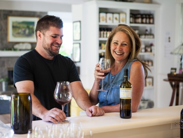 Wine tasting at David Hill Vineyards & Winery in Forest Grove, Oregon