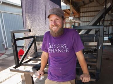 Derek Einberger at Patton Valley Vineyard in Gaston, Oregon