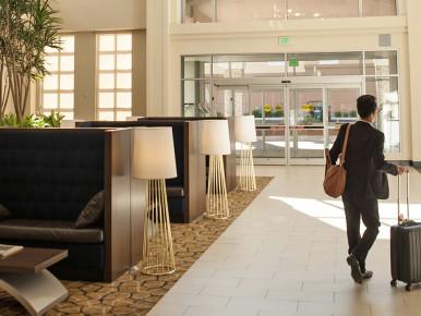 Embassy Suites lobby in Hillsboro, Oregon