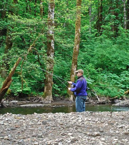 Fishing Gales Creek