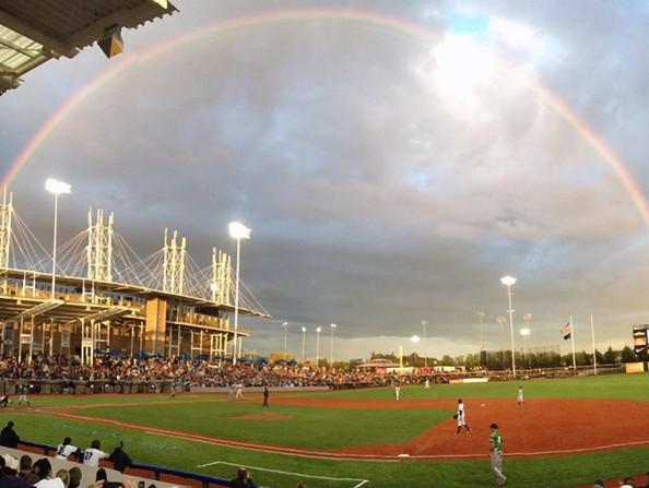 Hillsboro Hops rainbow
