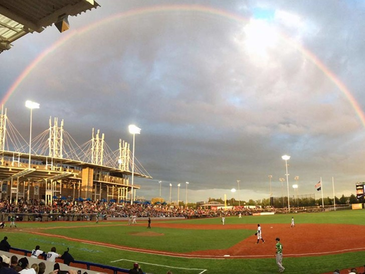 Hillsboro Hops Ballpark in Hillsboro in Oregon's Tualatin Valley