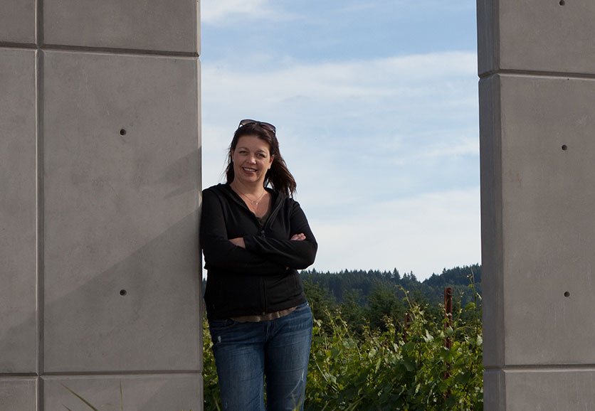 Luisa of Ponzi Vineyards in Sherwood, OR in the Tualatin Valley