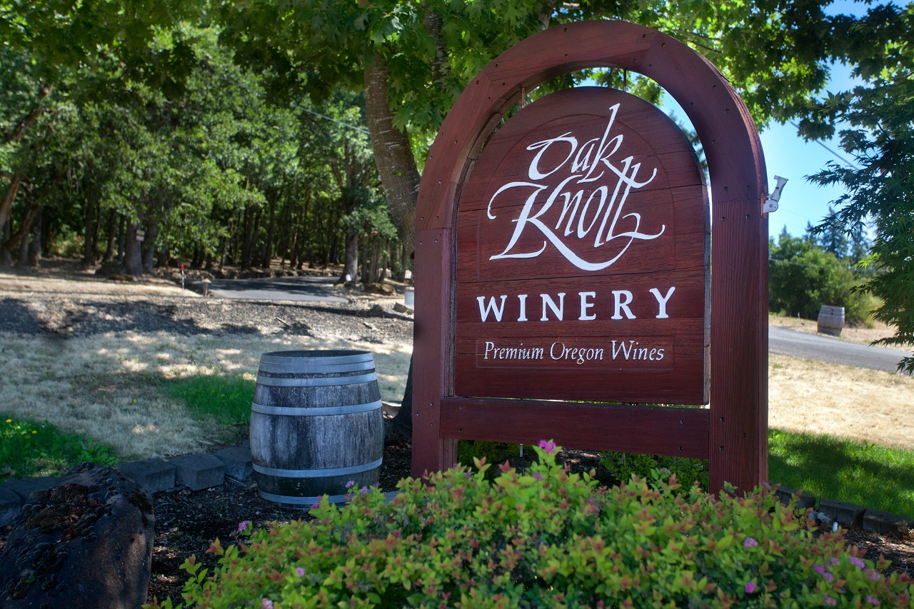 Oak Knoll Winery in Hillsboro in Oregon's Tualatin Valley, vineyards and wineires