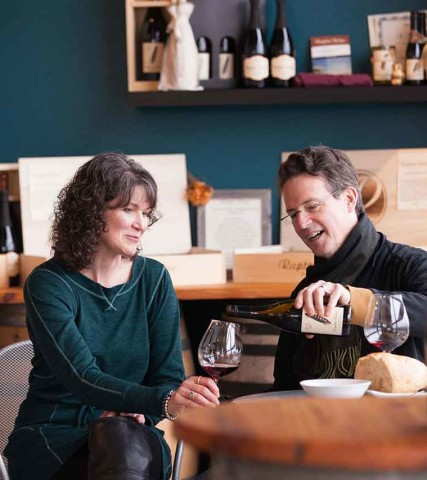 Scott and Annie Shull of Raptor Ridge Winery in Oregon's Tualatin Valley