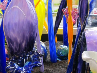 DIY glass art at Art Live Love Laugh in Beaverton, Oregon
