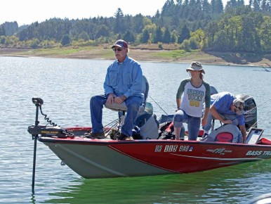 Fishing at Hagg Lake in Gaston in Oregon's Tualatin Valley