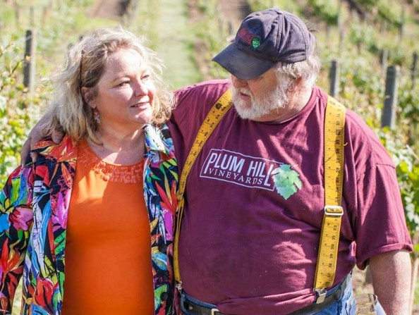 RJ and Juanita Lint of Plum Hill Vineyards in Gaston, Oregon