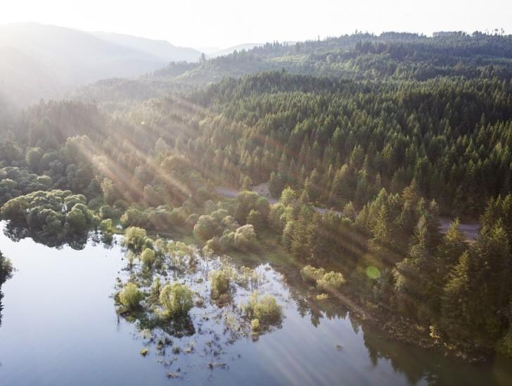 Aerial view of Oregon's Tualatin Valley