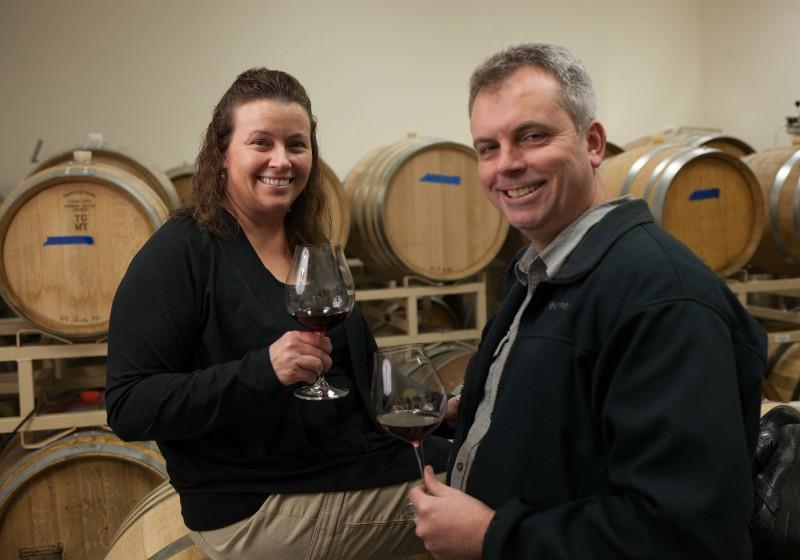 Kevin Johnson & Beth Klingner of Dion Vineyards in Cornelius, OR