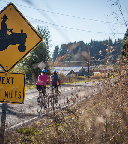 Tualatin Valley Scenic Bikeway Cyclists