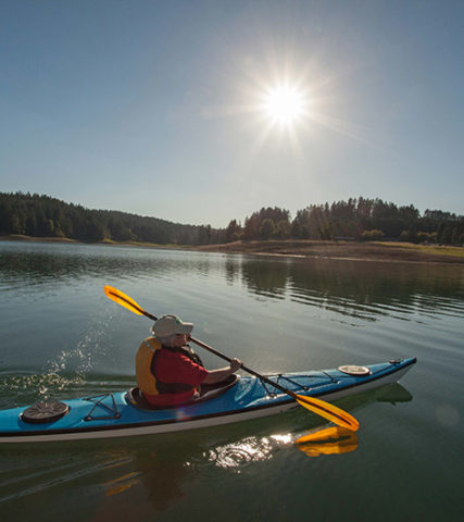 Kayaking at Hagg Lake in Gaston, Oregon