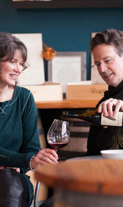 Scott and Annie Shull of Raptor Ridge Winery in Hillsboro, Oregon
