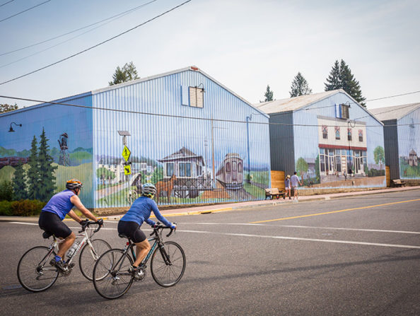 Murals in North Plains in Oregon's Tualatin Valley