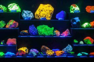 flourescent glow-in-the-dark rocks