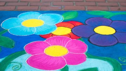 Sidewalk Chalk art in Oregon's Tualatin Valley