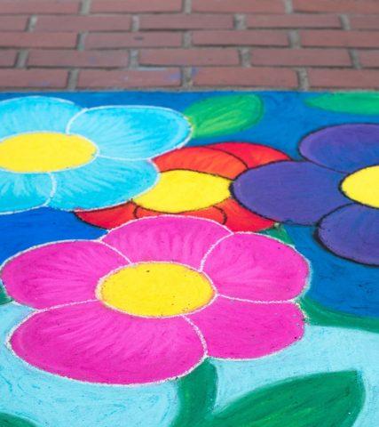 Sidewalk Chalk art in Oregon's Tualatin Valley