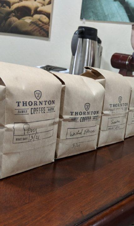 Thornton Coffee Roasters in Beaverton, Oregon