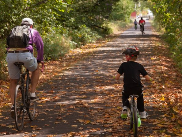 Banks-Vernonia State Trail in Oregon's Tualatin Valley