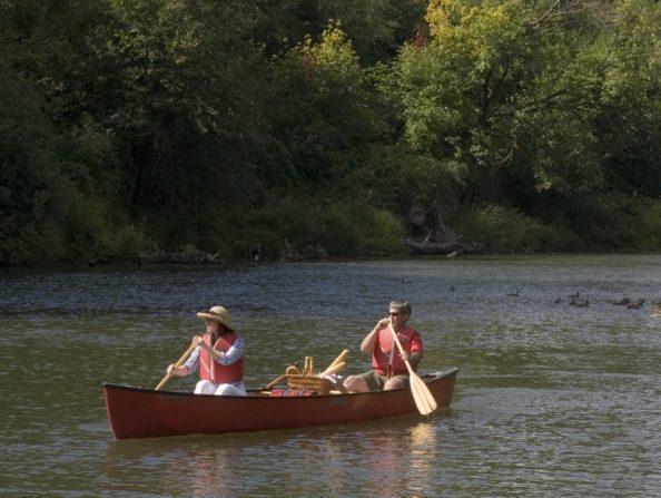 Canoeing on the Tualatin River in Oregon