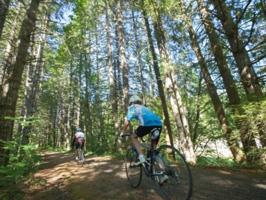 Cycling on the trails in Oregon's Tualatin Valley
