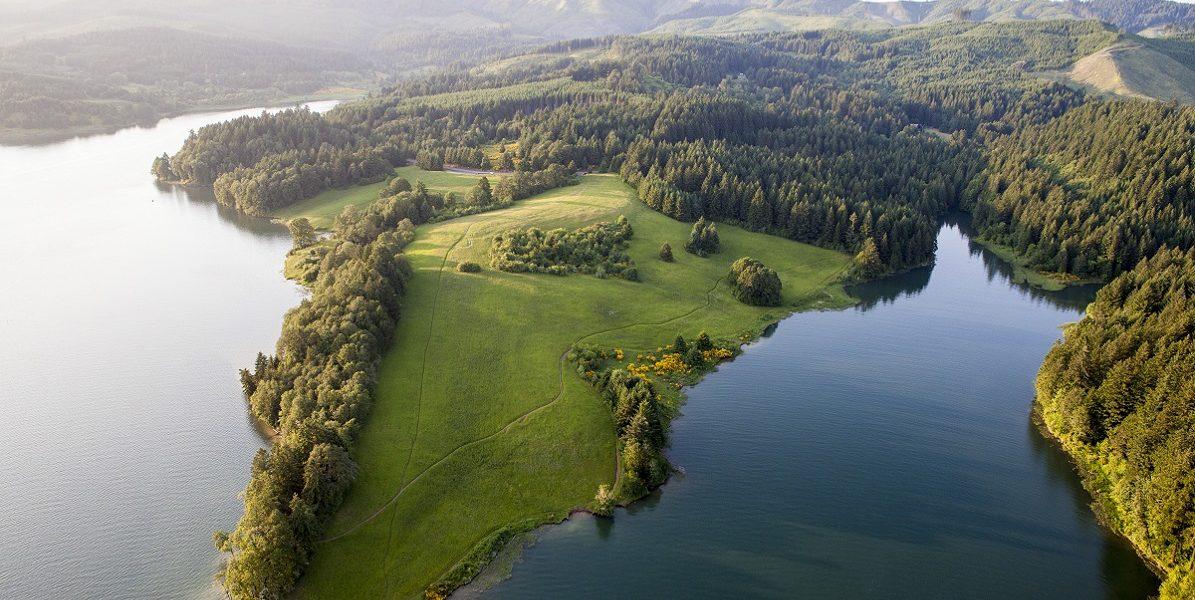 hagg lake aerial