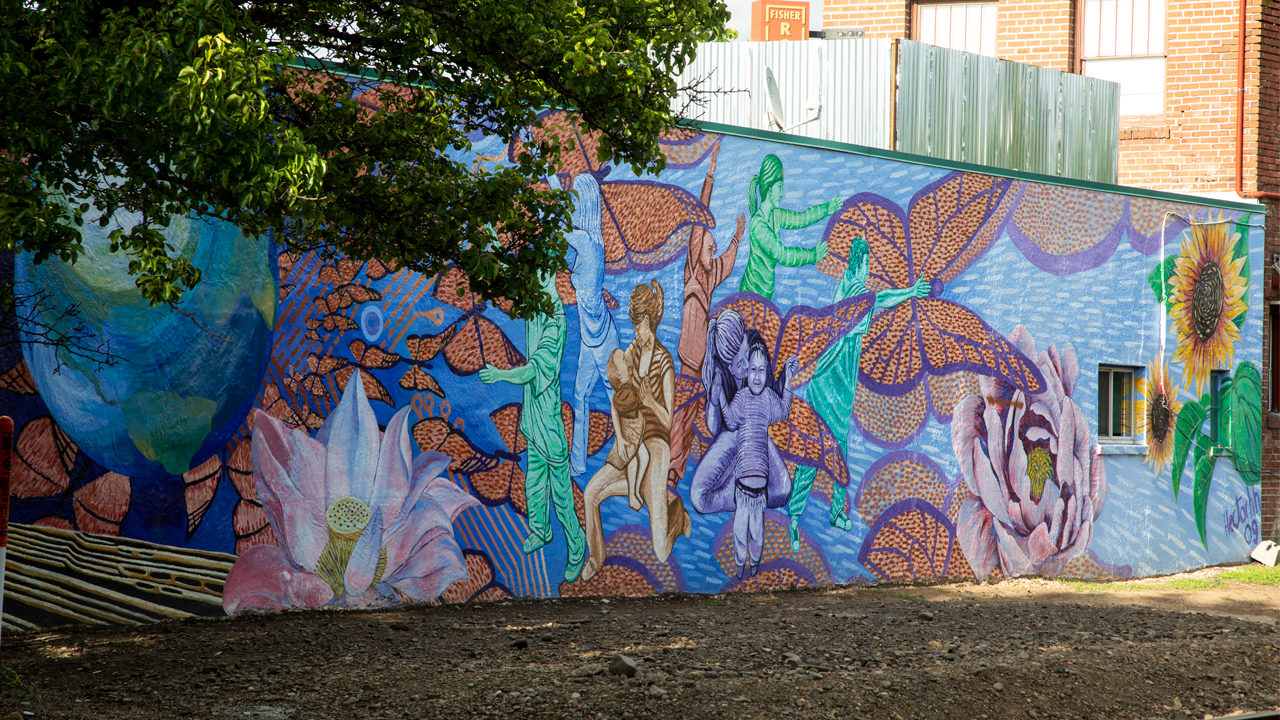 A mural in Beaverton in Oregon's Tualatin Valley