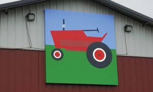 tractor quilt barn