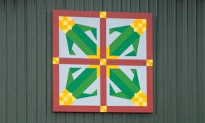 Field corn quilt barn