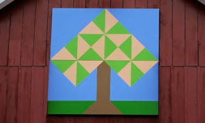 peach tree quilt block