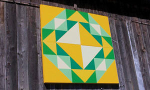 corn and beans quilt barn block
