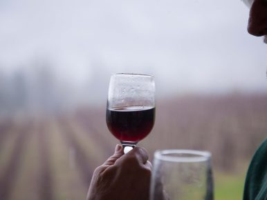 wine drinking winter