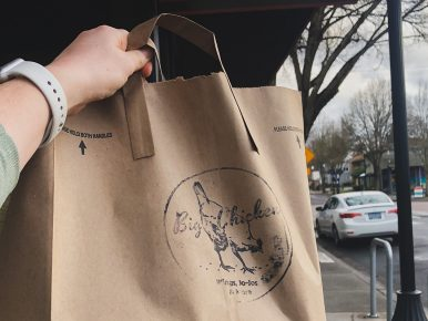 Bigs Chicken takeout to go bag