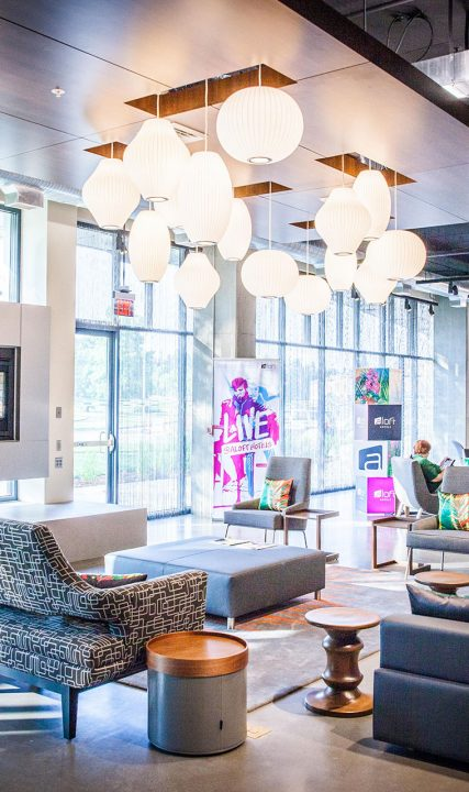 Aloft Hotel Lobby in Tualatin Valley
