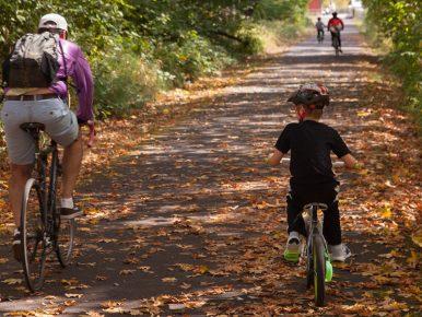 bicycling fall leaves Oregon JS A