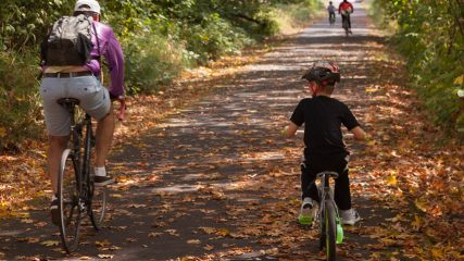 bicycling fall leaves Oregon JS A