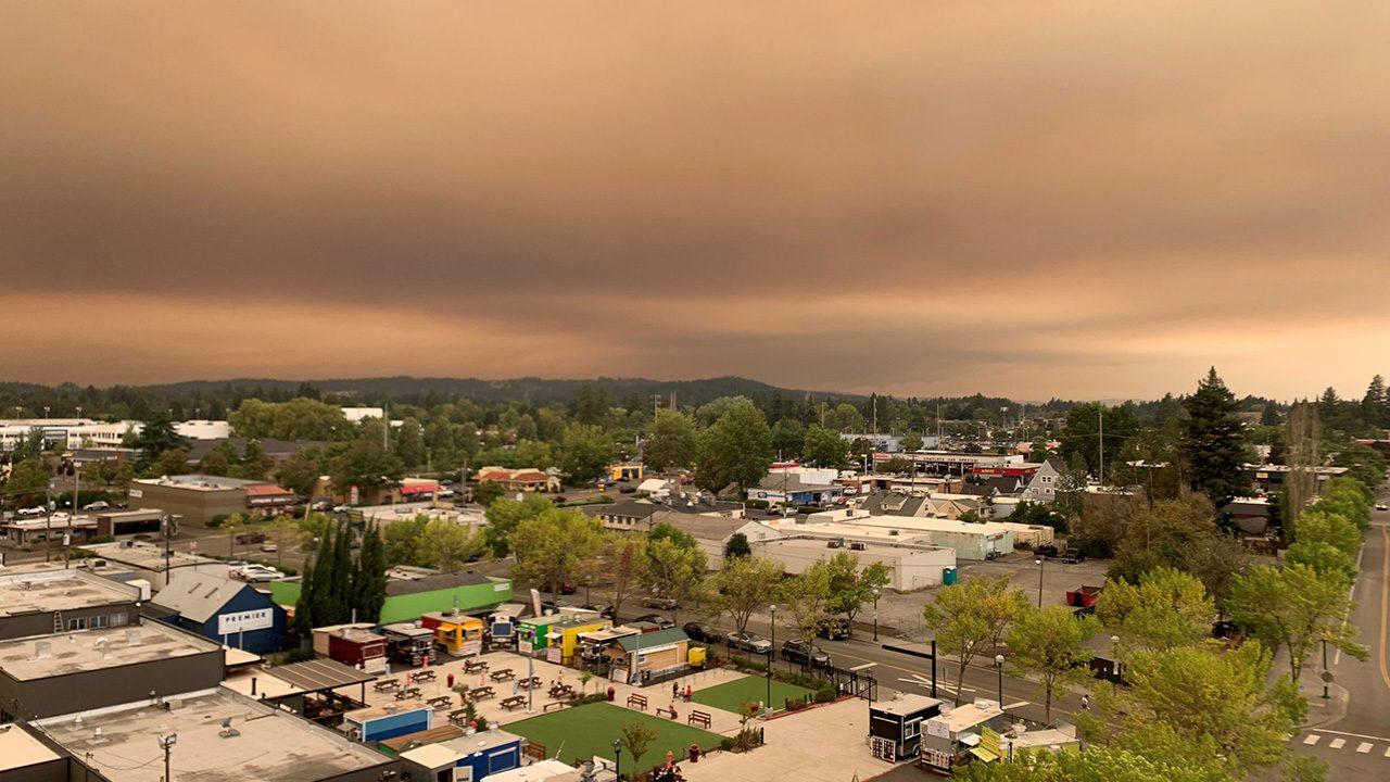 Oregon wildfire smoke  sept9