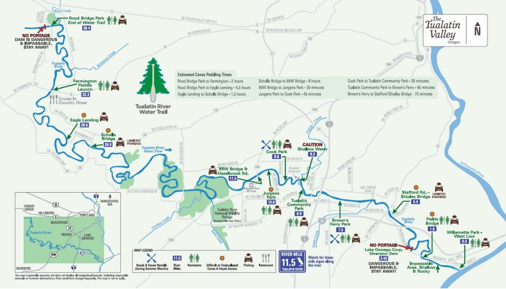 Image of the Water Trail Map
