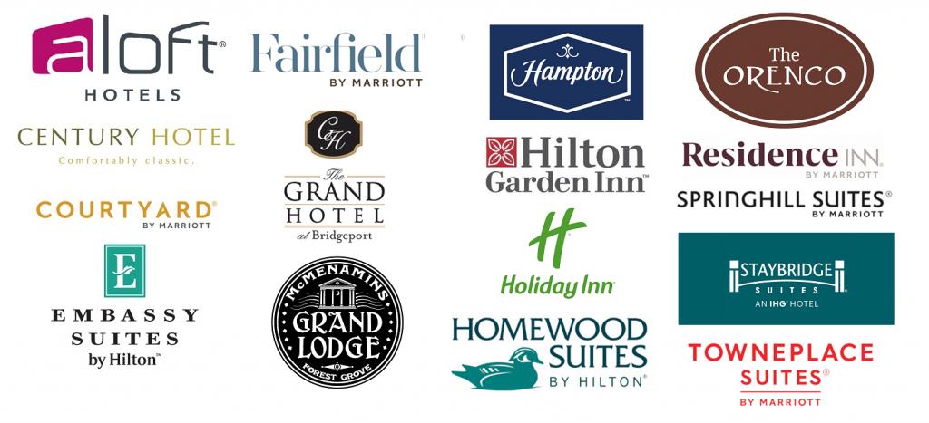 Hotel sponsor logos